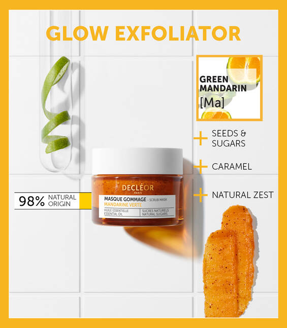 GREEN MANDARIN GLOW EXFOLIATING 2 IN 1 SCRUB MASK